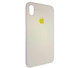 Чехол для Silicone Case iPhone XS Max Cream (51)