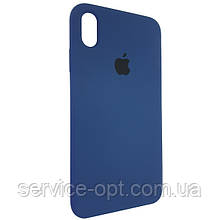Чехол для Silicone Case iPhone XS Max Dark Blue (10)