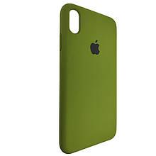 Чехол для Silicone Case iPhone XS Max Dark Green (48)