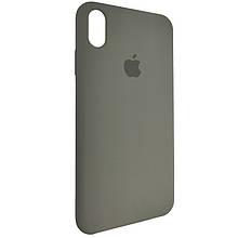 Чехол для Silicone Case iPhone XS Max Dark Olive (34)