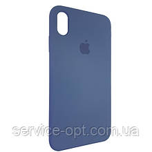 Чехол для Silicone Case iPhone XS Max Gray Blue (57)