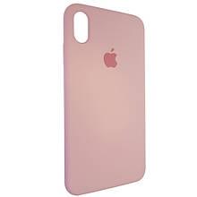 Чехол для Silicone Case iPhone XS Max Light Pink (6)