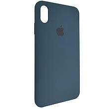 Чехол для Silicone Case iPhone XS Max Midnight Blue (8)