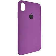 Чехол для Silicone Case iPhone XS Max Purpule (45)