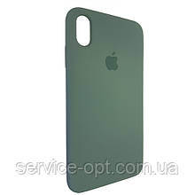 Чехол для Silicone Case iPhone XS Max Wood Green (58)