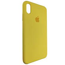 Чехол для Silicone Case iPhone XS Max Yellow (4)