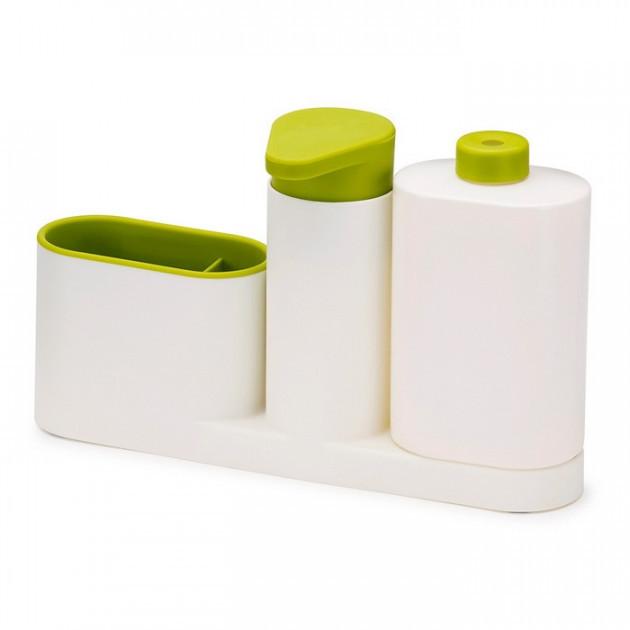 Органайзер для раковини ванної кімнати та кухні з дозатором мила SinkBase Plus Зелений