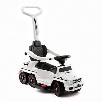 Детский электромобиль-каталка Rivertoys Mercedes-Benz шестиколесный  с двумя сиденьями белый
