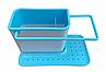 Органайзер на раковину Daily use 3в1 Голубой, фото 2
