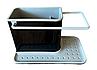 Органайзер на раковину Daily use 3в1 чорний з сірим, фото 2