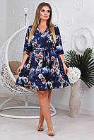 Женское летнее платье на запах батал, фото 1