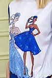 Костюм женский повседневный в спортивном стиле (синий с белым, р.XS-L), фото 7