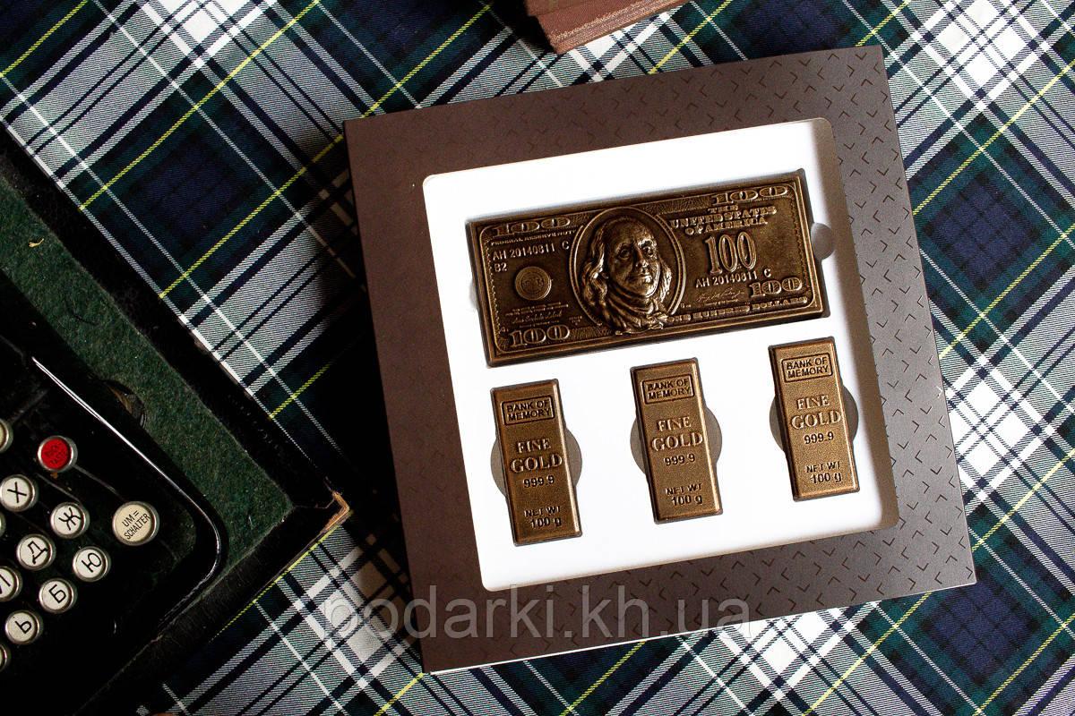 """Подарок на 23 февраля мужчине """"Шоколадные деньги"""""""