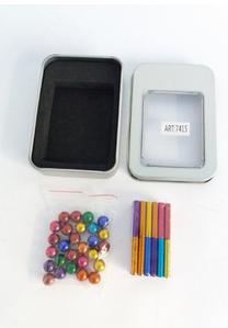 Магнітний конструктор антистрес Magnastix Neo MIX COLOR 36 шт. магнітні палички та 28 шт. сталеві кульки