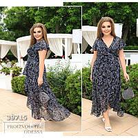 Женское летнее шифоновое платье большие размеры