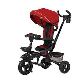 Велосипед трехколесный с родительской ручкой TILLY FLIP T-390 Красный | Велосипед-коляска
