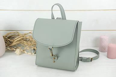 Жіночий шкіряний рюкзак Венеція, розмір міні, натуральна шкіра Grand колір Сірий