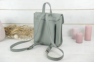 Женский кожаный Рюкзак Венеция, размер мини, натуральная натуральная кожа Grand цвет Серый, фото 2