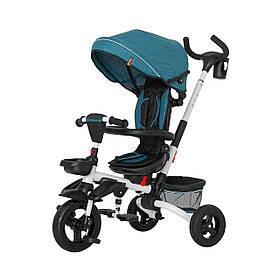 Велосипед трехколесный с родительской ручкой TILLY FLIP T-390 Зеленый | Велосипед-коляска
