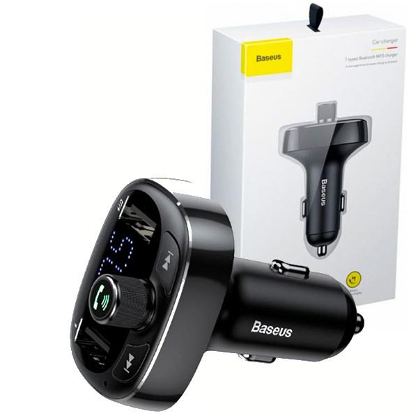 Автомобільний зарядний пристрій з FM-модулятор Baseus T typed Wireless MP3