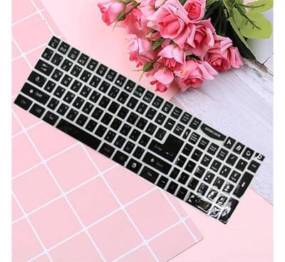 Наклейки на клавиатуру белые  руские буквы (русский/английский) все клавиши