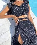 Спідничний костюм літній з кроп топом і довгою спідницею на запах (р. S-L) 5101986, фото 2