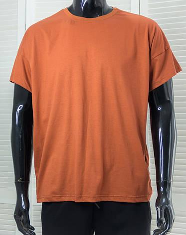 Футболка чоловіча Dynamo Теракотова одноколірна футболка Оверсайз, фото 2