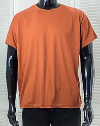 Футболка чоловіча Dynamo Теракотова одноколірна футболка Оверсайз