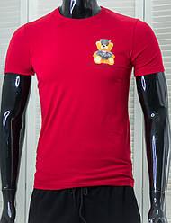 Футболка чоловіча стильна Emperor Apparel Червона Приталені Ідеальна посадка