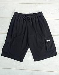 Шорти чоловічі трикотажні Escetic Чорні одноколірні на шнурівці