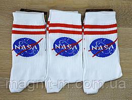 """Чоловічі високі шкарпетки білого кольору """"Marley"""". """"NASA"""" .Р-Р 42-45."""