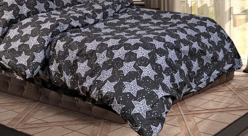 Двоспальний підодіяльник з бязі - Зорі на сірому