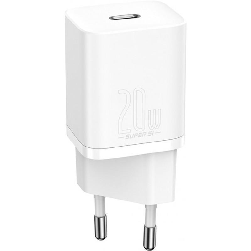 СЗУ 1Type-C Baseus Super Si 20W (CCSUP-B02) White