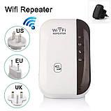 ОПТ Безпровідний Wi-Fi репітер, розширювач діапазону мережі Wifi repeator MHZ WF-03 в розетку, фото 5