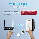 ОПТ Безпровідний Wi-Fi репітер, розширювач діапазону мережі Wifi repeator MHZ WF-03 в розетку, фото 6