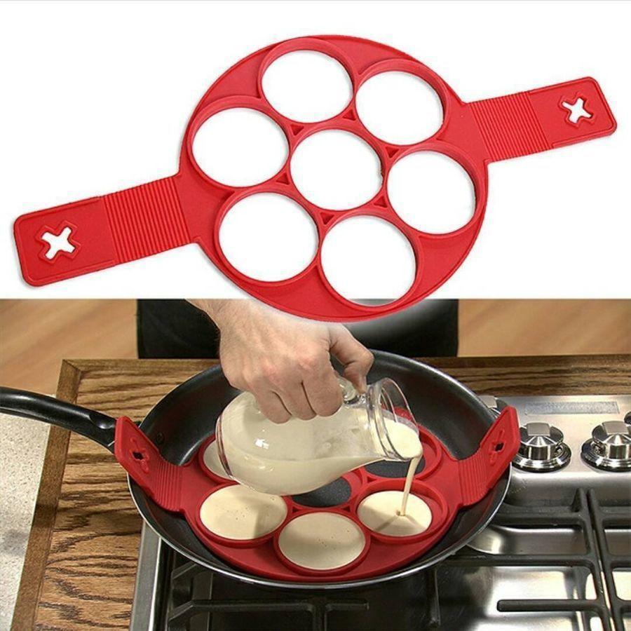Силиконовая форма для оладий и яиц Flippin fantastic, Форма кольцо для приготовления котлет и бургеров