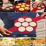Силиконовая форма для оладий и яиц Flippin fantastic, Форма кольцо для приготовления котлет и бургеров, фото 3