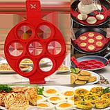 Силиконовая форма для оладий и яиц Flippin fantastic, Форма кольцо для приготовления котлет и бургеров, фото 5