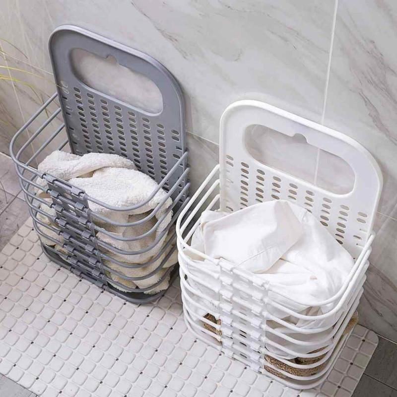 Складана корзина для зберігання білизни органайзер з пластику в дитячу ванну кімнату і спальню