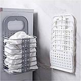 Складана корзина для зберігання білизни органайзер з пластику в дитячу ванну кімнату і спальню, фото 2