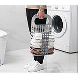 Складана корзина для зберігання білизни органайзер з пластику в дитячу ванну кімнату і спальню, фото 3