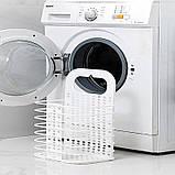 Складана корзина для зберігання білизни органайзер з пластику в дитячу ванну кімнату і спальню, фото 5