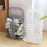 Складана корзина для зберігання білизни органайзер з пластику в дитячу ванну кімнату і спальню, фото 8