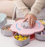 Вращающаяся тарелка органайзер для закусок Candy Box 1 ярус, Универсальная Менажница для фруктов, фото 3