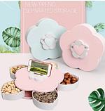 Вращающаяся тарелка органайзер для закусок Candy Box 1 ярус, Универсальная Менажница для фруктов, фото 4
