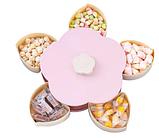Вращающаяся тарелка органайзер для закусок Candy Box 1 ярус, Универсальная Менажница для фруктов, фото 5