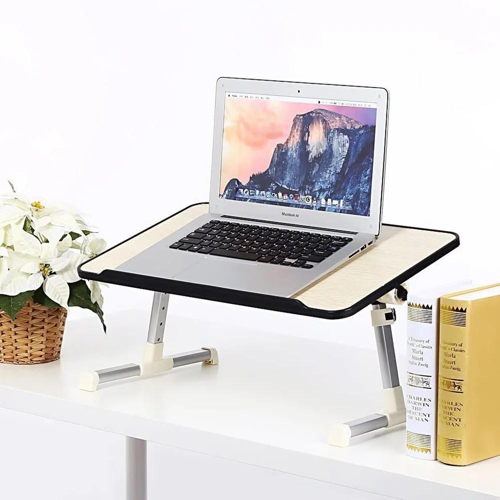 Складной столик для ноутбука с охлаждением ELaptop универсальный, Напольный столик для ноутбука из пластика
