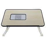 Складной столик для ноутбука с охлаждением ELaptop универсальный, Напольный столик для ноутбука из пластика, фото 2