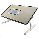 Складной столик для ноутбука с охлаждением ELaptop универсальный, Напольный столик для ноутбука из пластика, фото 3