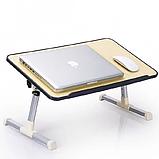 Складной столик для ноутбука с охлаждением ELaptop универсальный, Напольный столик для ноутбука из пластика, фото 5